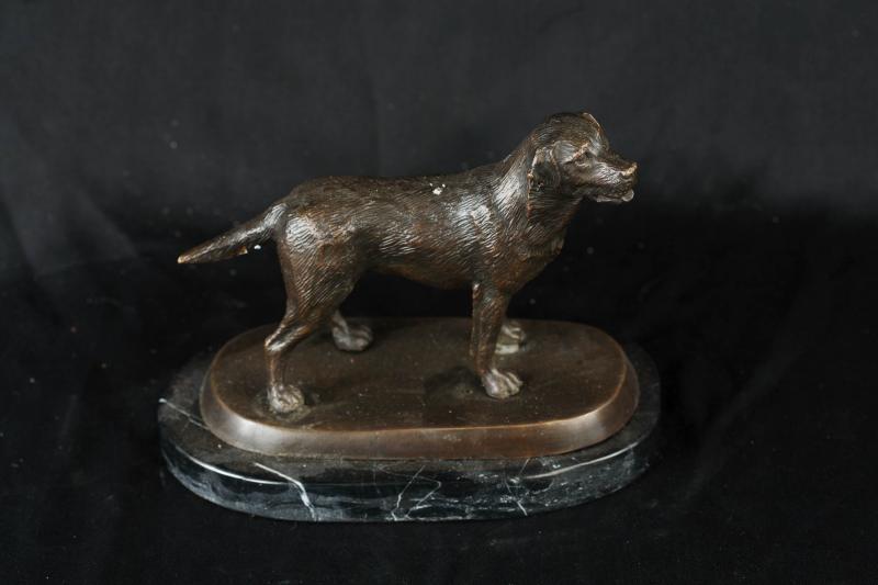 Photo of English Bronze Labrador Statue Casting Dogs Labs Dog