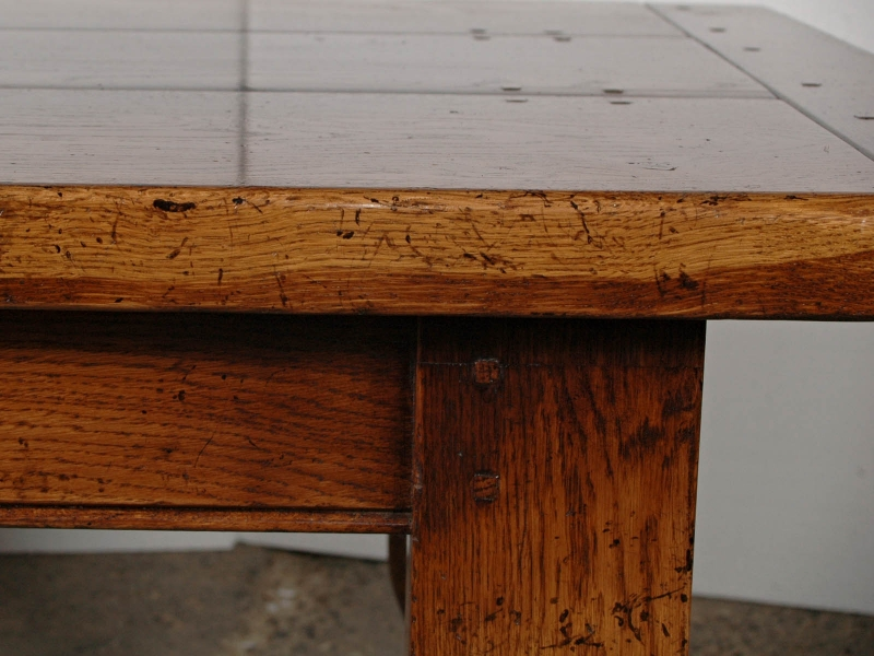 Photo of English Gothic Farmhouse Refectory Table & Chair Set