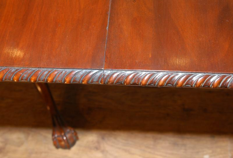 Photo of English Mahogany Chippendale Regency Dining Table Tables
