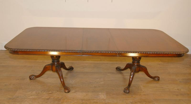 Details About English Mahogany Chippendale Regency Dining Table Tables