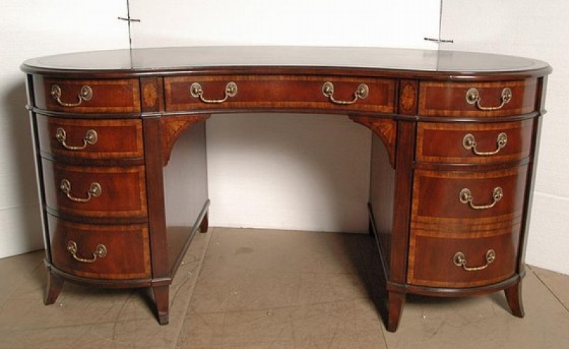 English regency mahogany kidney desk ebay for Kidney desk for sale