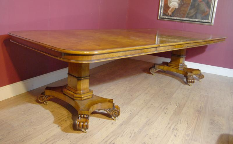Photo of English Regency Walnut Extending Dining Table