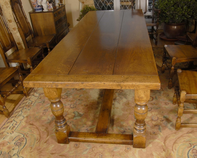 Photo of English Rustic Refectory Table & William Mary Chair Set