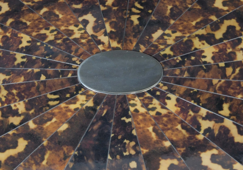 Photo of English Silver Plate Faux Tortoiseshell Tray Stand