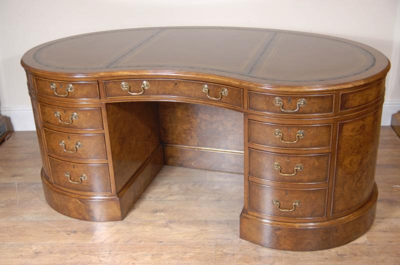 kidney partners desk walnut ebay 87979