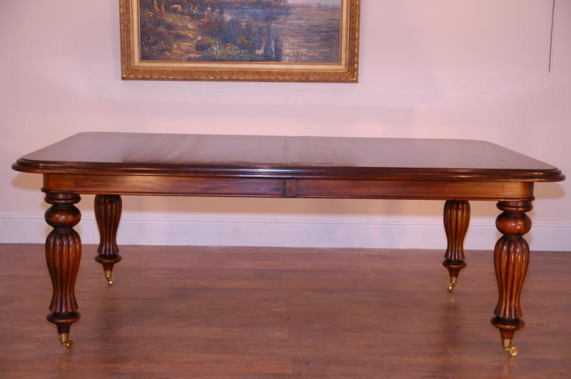 Photo of English Victorian Spiral Leg Mahogany Dining Table Tables