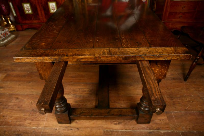 Photo of Extending Oak Refectory Table Farmhouse Dining Table