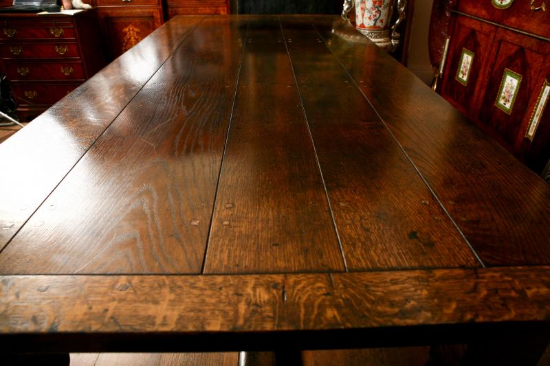 Extending Oak Refectory Table Farmhouse Dining