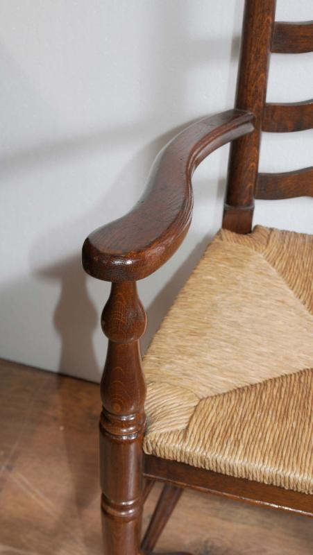 Photo of Farmhouse Refectory Table Ladderback Chair Set Dining