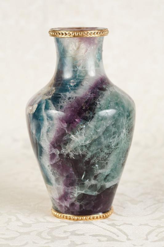 Photo of Fluorite Stone Vase Urn Blue John English Ormolu