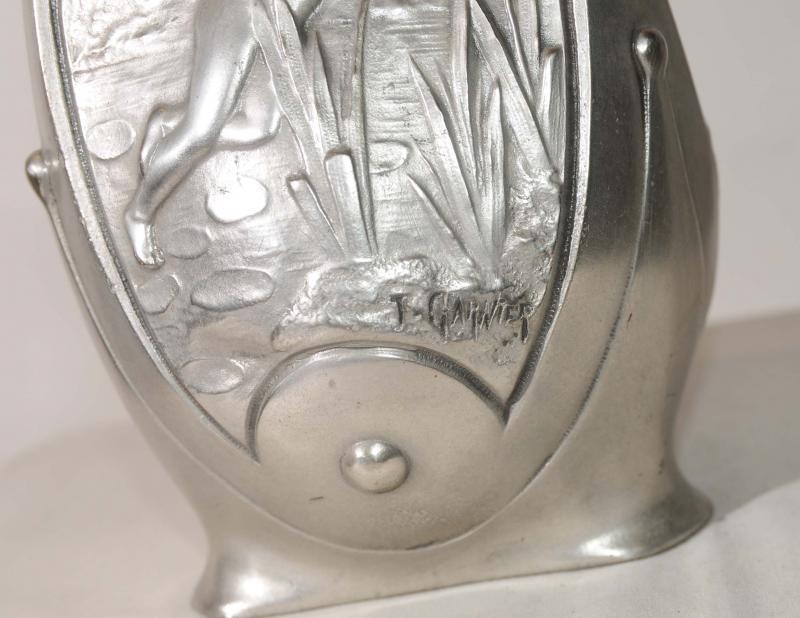Photo of French Art Nouveau Silver Bronze Pixie Vase Urn