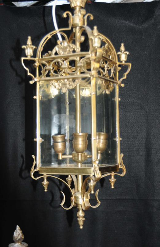 Photo of French Brass Lantern Light Chandelier Lamps Lights