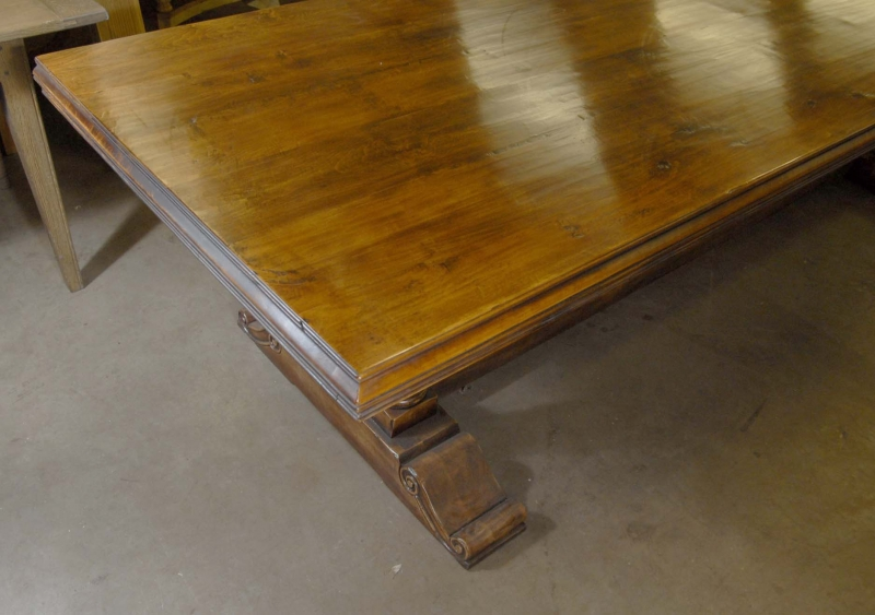 Photo of French Farmhouse Refectory Table Rustic Tables Kitchen