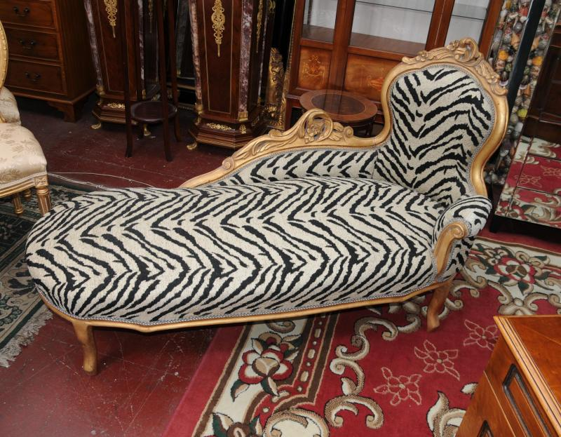french louis xv chaise longue sofa day bed chair seat shabby chic ebay. Black Bedroom Furniture Sets. Home Design Ideas