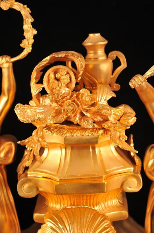 Photo of French Ormolu Cherub Mantle Clock Classic Linke