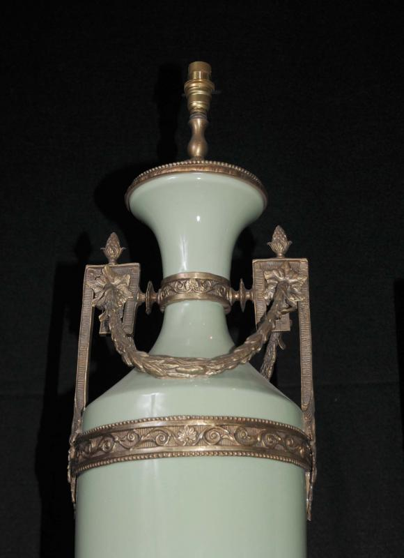 Photo of French Porcelain Lamps Lights Classic Amphora Urn Table Floor Lamp