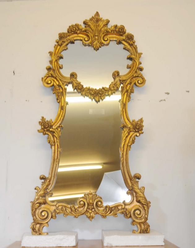 Photo of French Rococo Gilt Pier Mirror Glass Mirrors