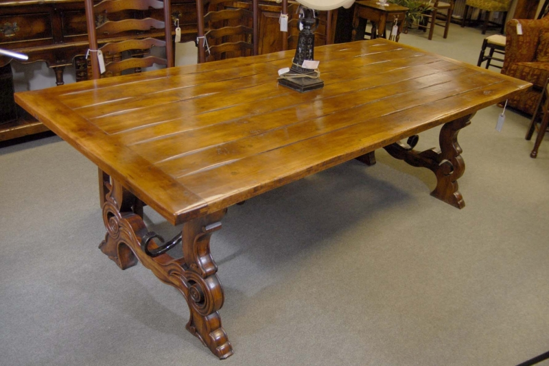 Photo of French Rustic Refectory Table Cherry Wood Tables Dining
