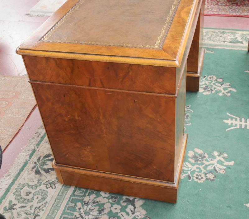Photo of George II Knee Hole Desk Walnut Bureau