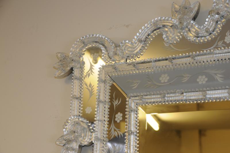 Photo of Glass Italian Venetian Pier Mirror Mirrors