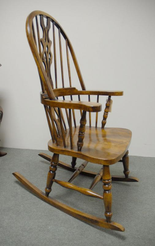 Photo of Hand Carved English Windsor Rocking Chair Farmhouse Chairs