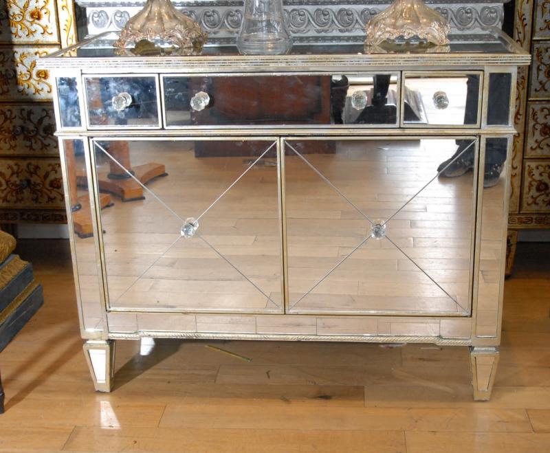 Photo of Italian Art Deco Mirrored Chest Drawers
