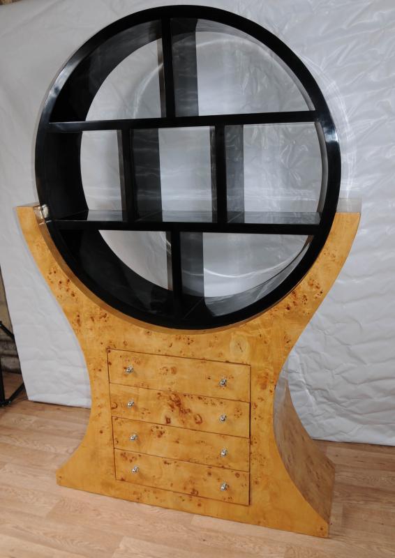 Photo of Large Art Deco Bookcase Shelf Unit Modernist 1920s Furniture