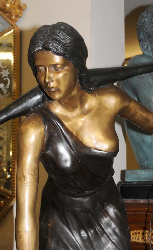 Photo of Large Bronze Art Nouveau Water Maiden Statue Figurine Garden Art