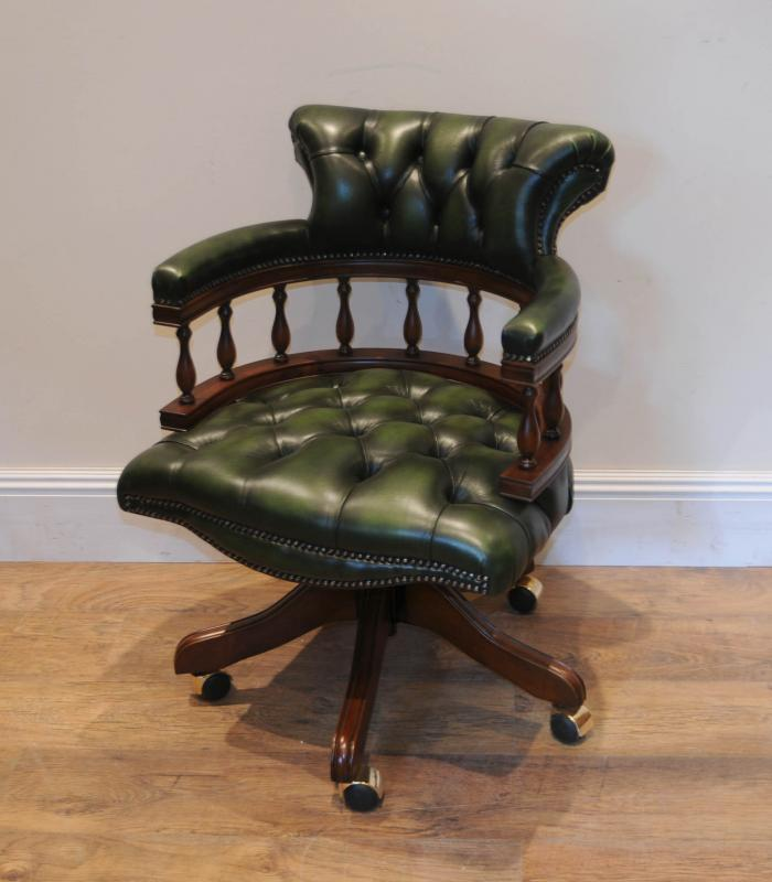 mahogany framed captains office chair antiques atlas