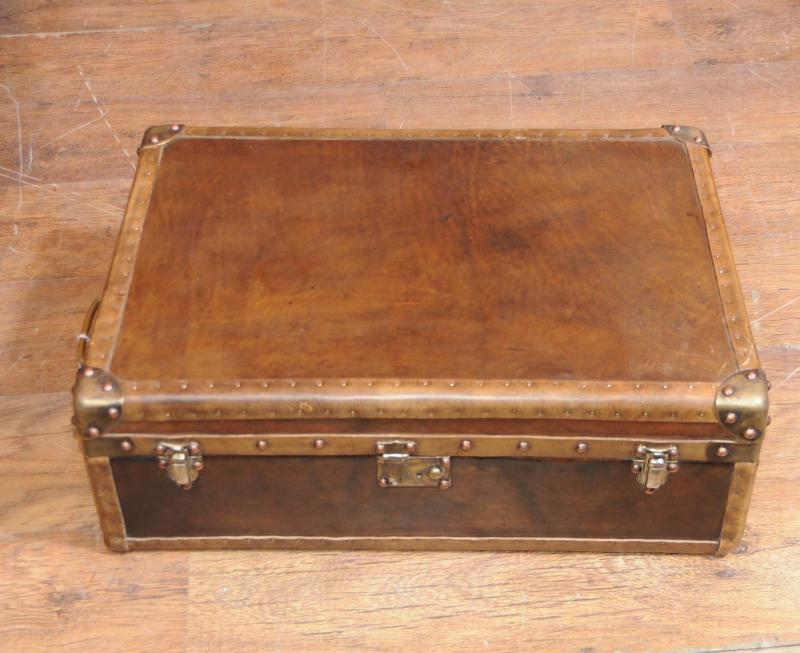 Leather Case Luggage Trunk Coffee Table Box Interior Ebay