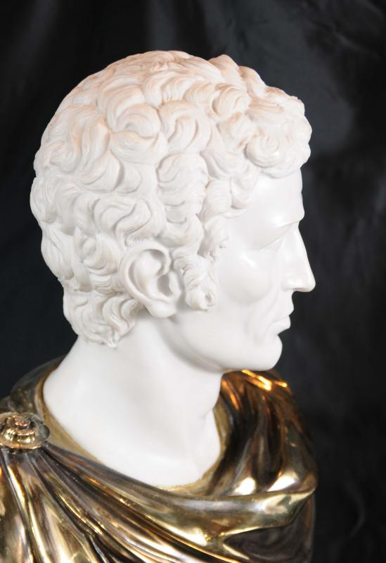 Photo of Marble Bust Roman Emperor Julius Caesar