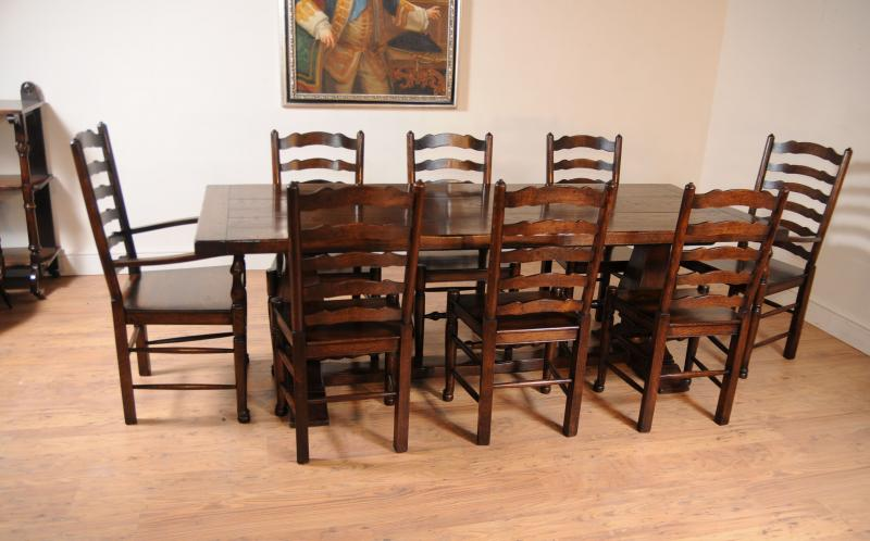 Oak Kitchen Dining Set Ladderback Chairs Refectory eBay : oak kitchen dining set ladderback chairs refectory table suite 1348717426 zoom 21 from www.ebay.com size 800 x 498 jpeg 54kB