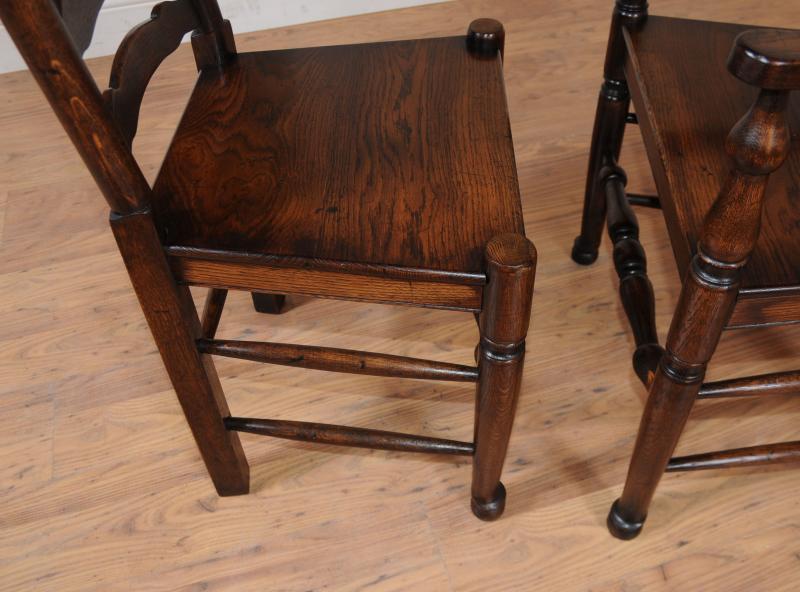 Oak Kitchen Dining Set Ladderback Chairs Refectory | eBay