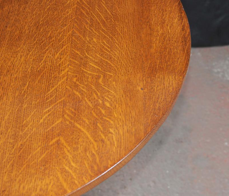 Photo of Oak Round Dining Table Tilt Top Farmhouse