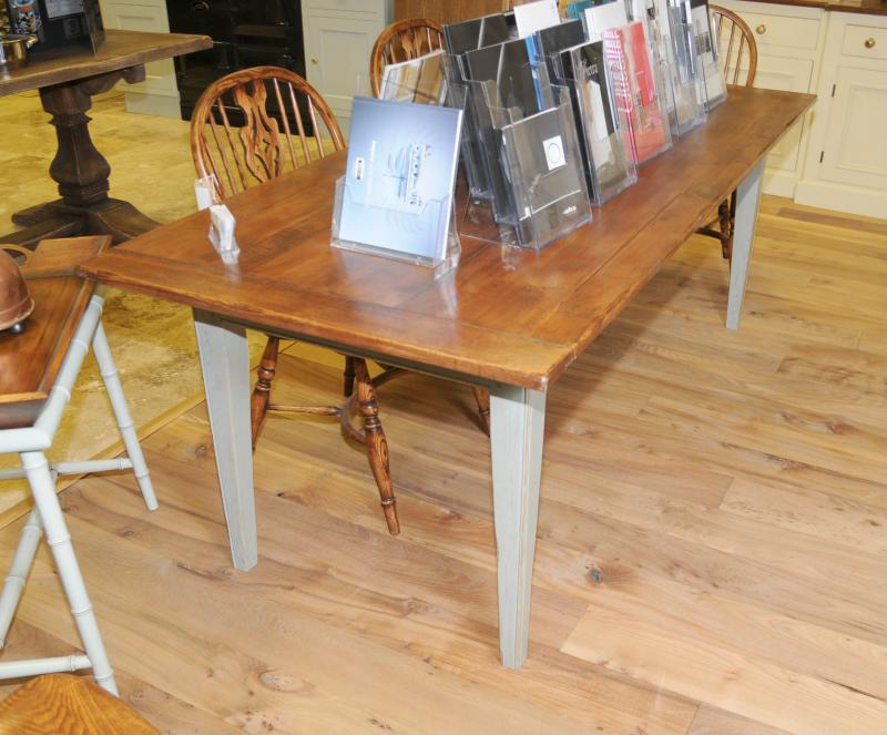 country kitchen table painted oak country kitchen refectory dining table ebay 2905