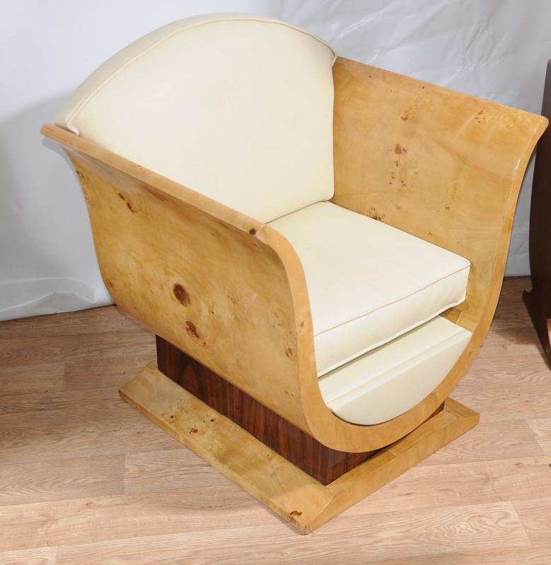 Pair Art Deco Sofa Arm Chairs Club Chair Vintage Furniture