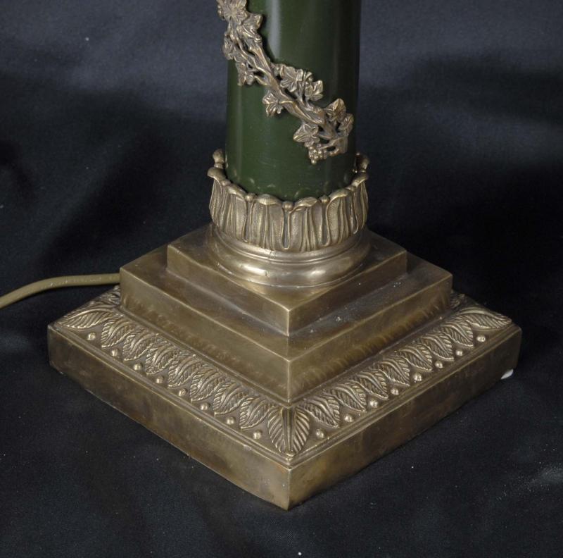 Photo of Pair English Regency Column Lamp Bases Table Lights Light