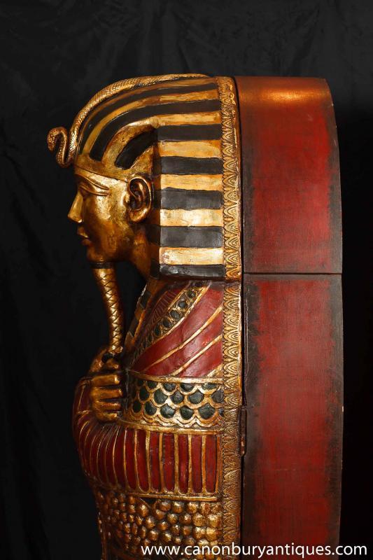Photo of Pair French Empire Mummy Cabinets Egyptian Egypt Mummies Pharo
