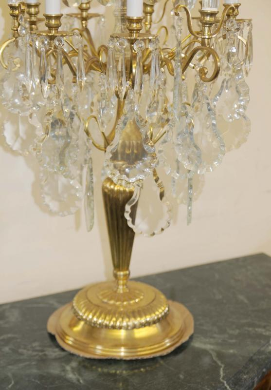 Photo of Pair French Empire Ormolu Candelabras Candles