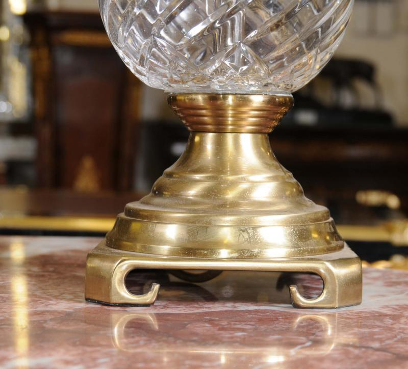 Photo of Pair French Empire Ormolu Table Lamps Lights
