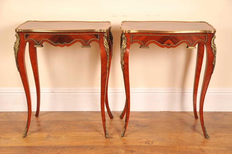 Photo of Pair French Louis XV Empire Side Tables Tables