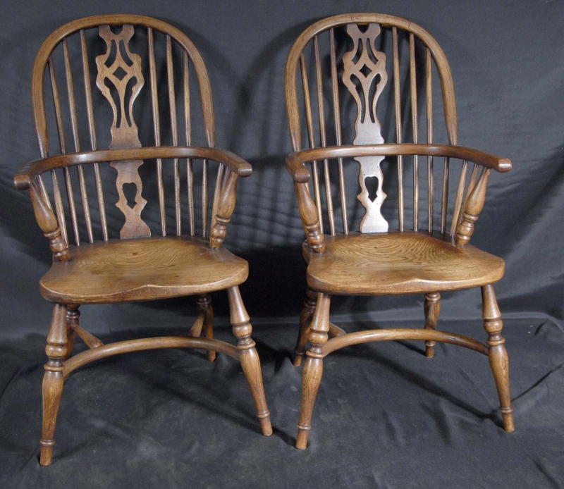 Pair Mini Kids Windsor Rustic Dining Chair Chairs Antique EBay