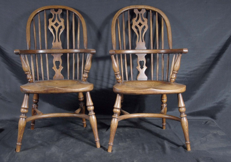 Photo of Pair Mini Kids Windsor Rustic Dining Chair Chairs Antique