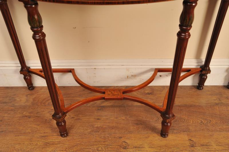 Photo of Pair Regency Adams Console Tables Painted