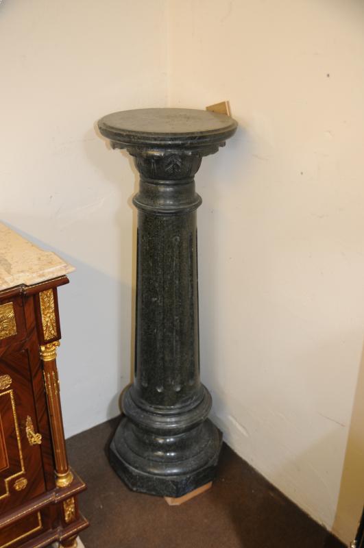 Photo of Pair Tall Marble Pedestal Doric Column Supports Italian