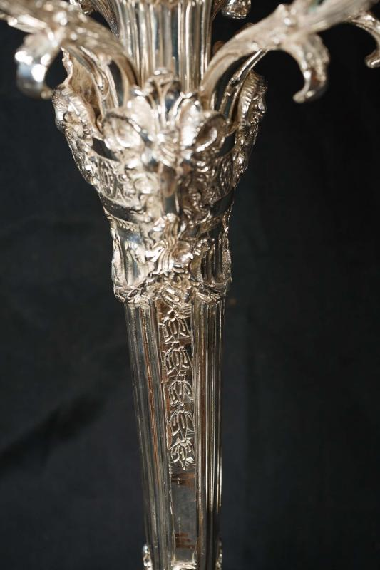 Photo of Pair Victorian Rococo Silver Plate Candelabras Silverplate Candles