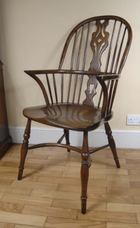 Details about pair windsor chairs farmhouse oak kitchen chair