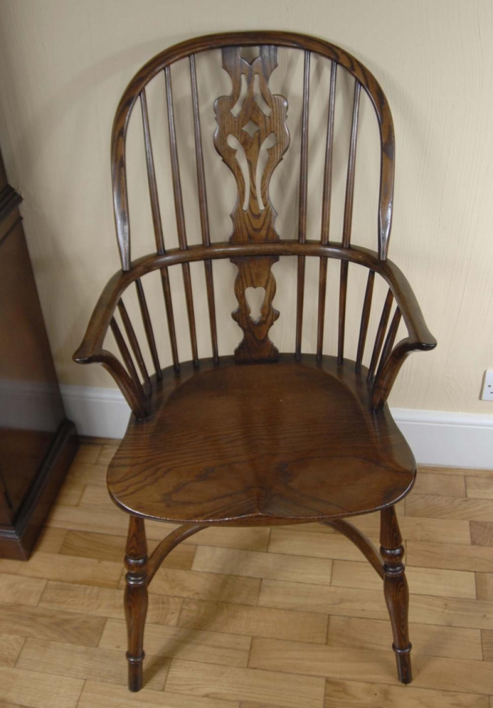 Pair windsor chairs farmhouse oak kitchen chair ebay