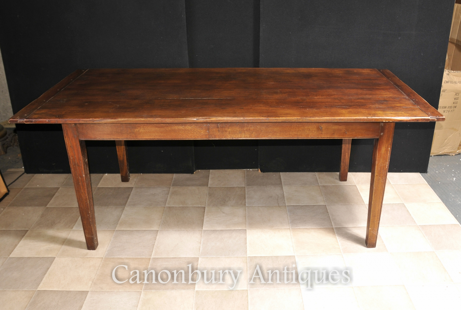 refectory farmhouse dining table kitchen diner cherry ebay