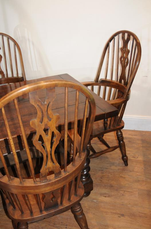 Photo of Refectory Table Windsor Chair Kitchen Dining Set